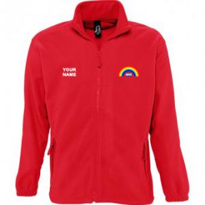 NHS Rainbow Fleece – Red