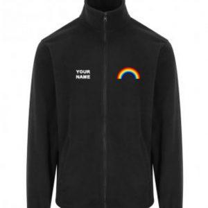 Rainbow Fleece – Black