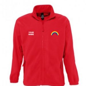 Rainbow Fleece – Red