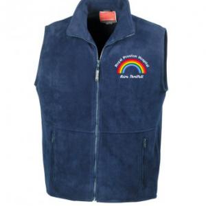 Personalised Rainbow Fleece Bodywarmer