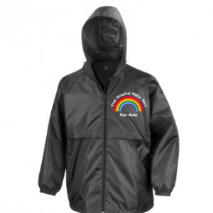 Personalised Rainbow Windcheater